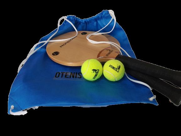 Kit de Mini Tenis - Raquetinhas mais Bolinhas e Capa
