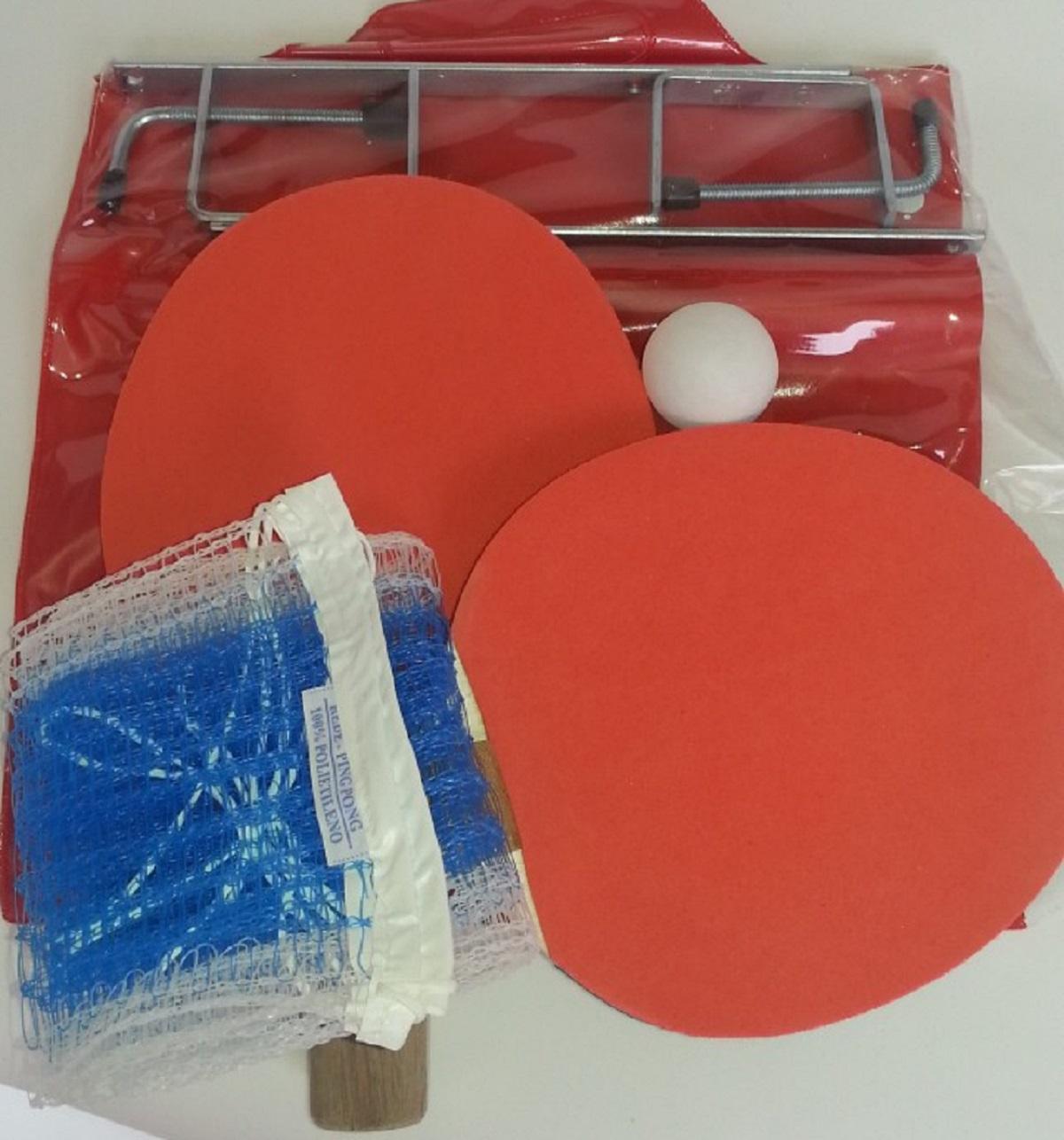 Kit de Ping Pong - 2 Raquetes+Rede+Bola