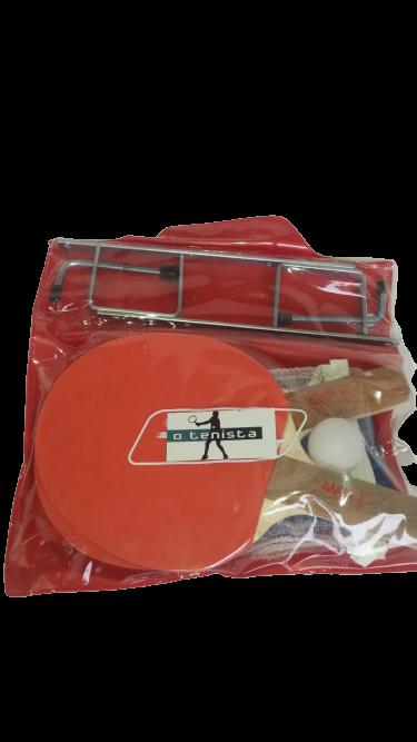 Kit de Ping Pong - 2 Raquetes+Rede+Suporte+Bola