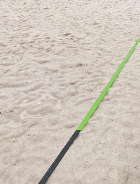 Marcação Quadra Beach Tennis com linha de Saque