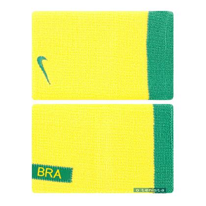 Munhequeira Nike Premier 2.0 Double Wide - Amarelo/verde