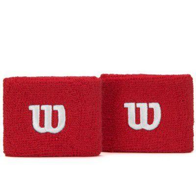 Munhequeira Wilson WristBand Curta - Par Vermelho