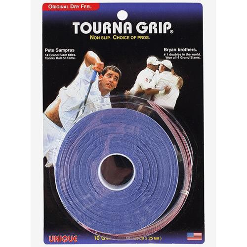 OVERGRIP UNIQUE TOURNA ORIGINAL SAMPRAS AZUL - ROLO COM 15 UNIDADES