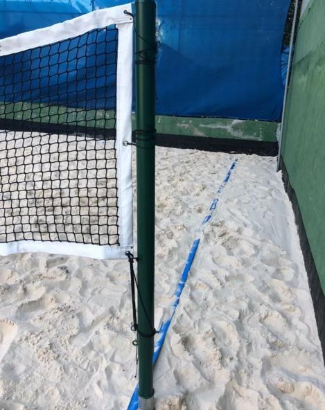 Poste de Beach Tennis e Volei - Poste Retrátil Profissional Oficial