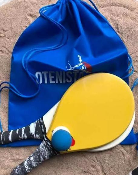 Raquete de Frescobol Pró Kit 2 raquetes e bola