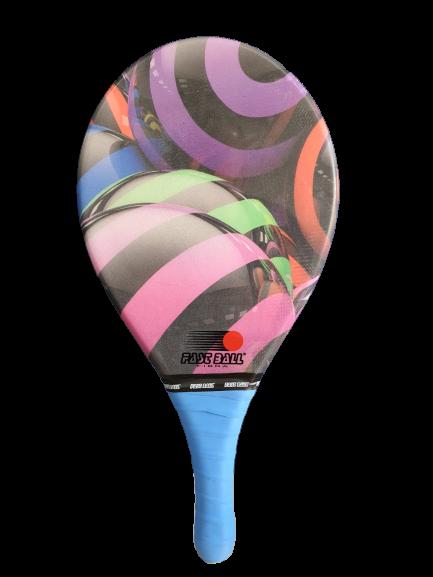 Raquete de Frescobol Profissional - Fibra Bola Colorida