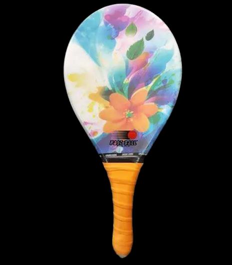 Raquete de Frescobol Profissional - Fibra Flower