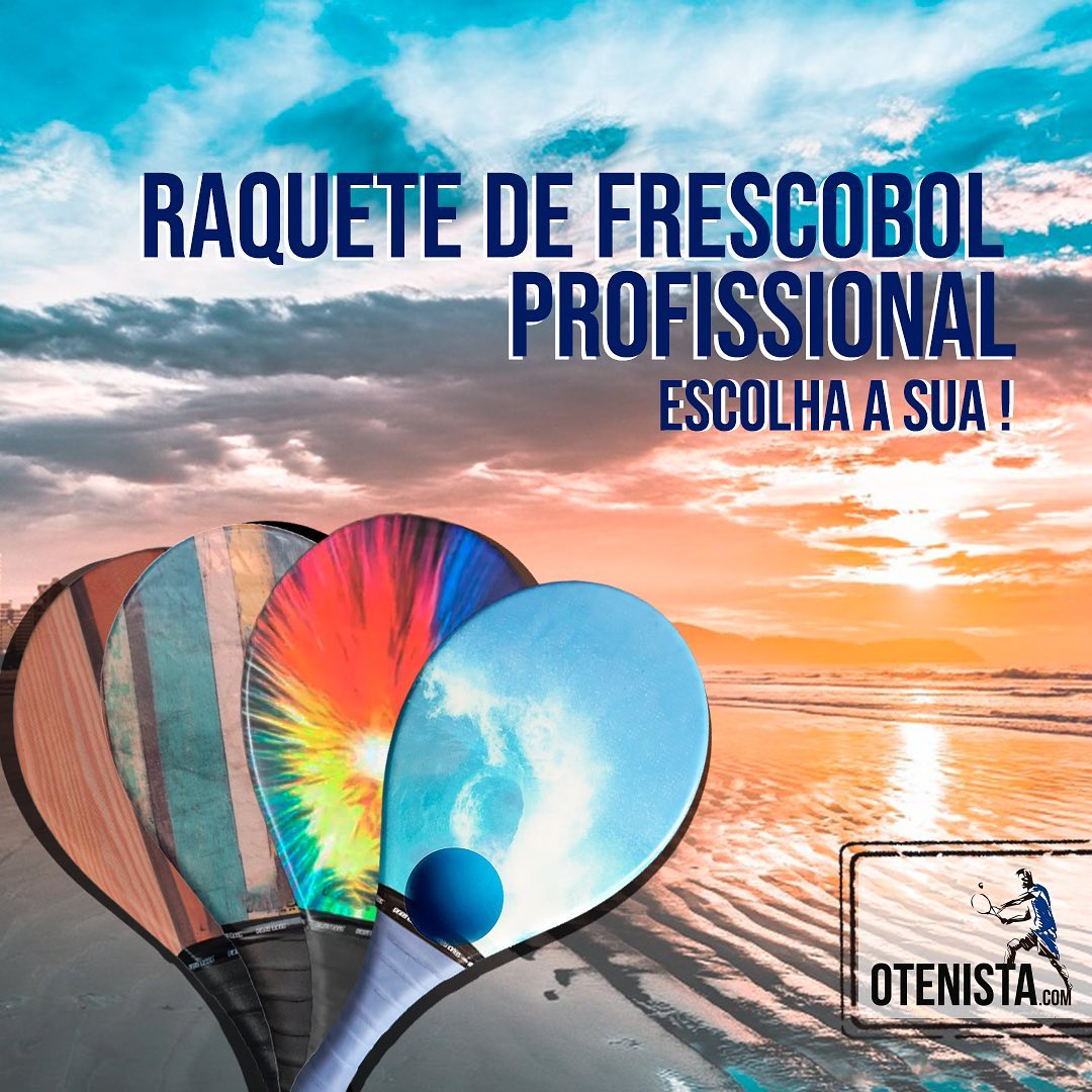 Raquete de Frescobol Profissional Fibra - Diversos Modelos