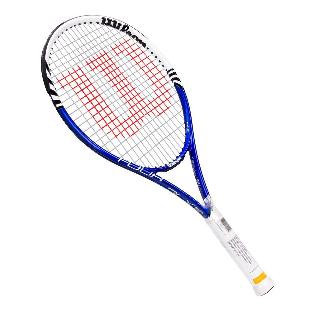 Raquete de Tênis Wilson Four BLX 105 Azul e Branco