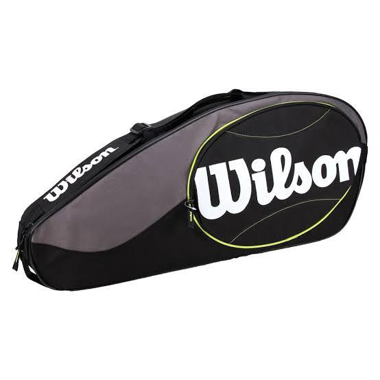 Raqueteira Wilson Match X3 - Preto/Cinza