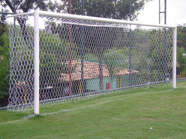 Rede de Futebol de Campo Oficial Colmeia - Fio 4mm – Seda