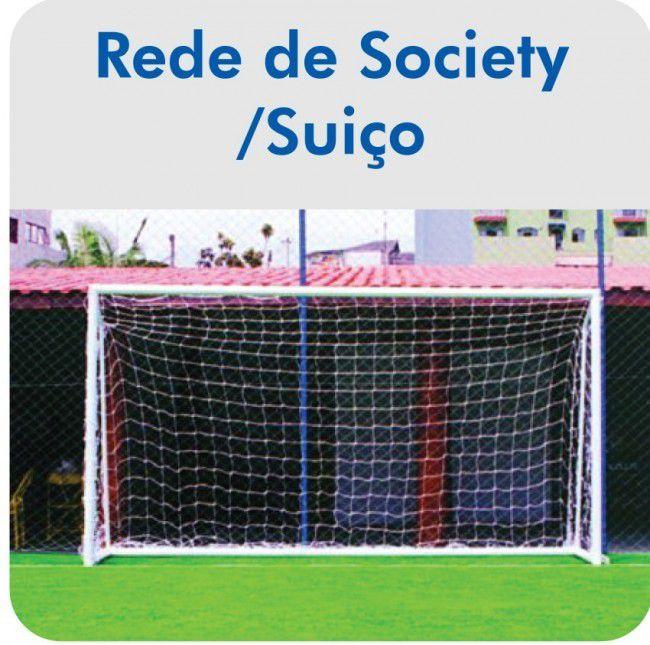 Rede de Futebol Society/Suiço Fio 3mm - 2,10 X 3,20M (01 Par)