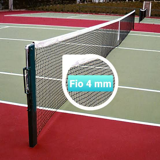 Rede de Tenis Oficial Profissional Super Reforçada Saque Duplo Total