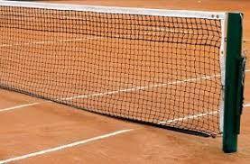 Rede p/ Quadra de Tenis Oficial 4 Lonas Saque Duplo