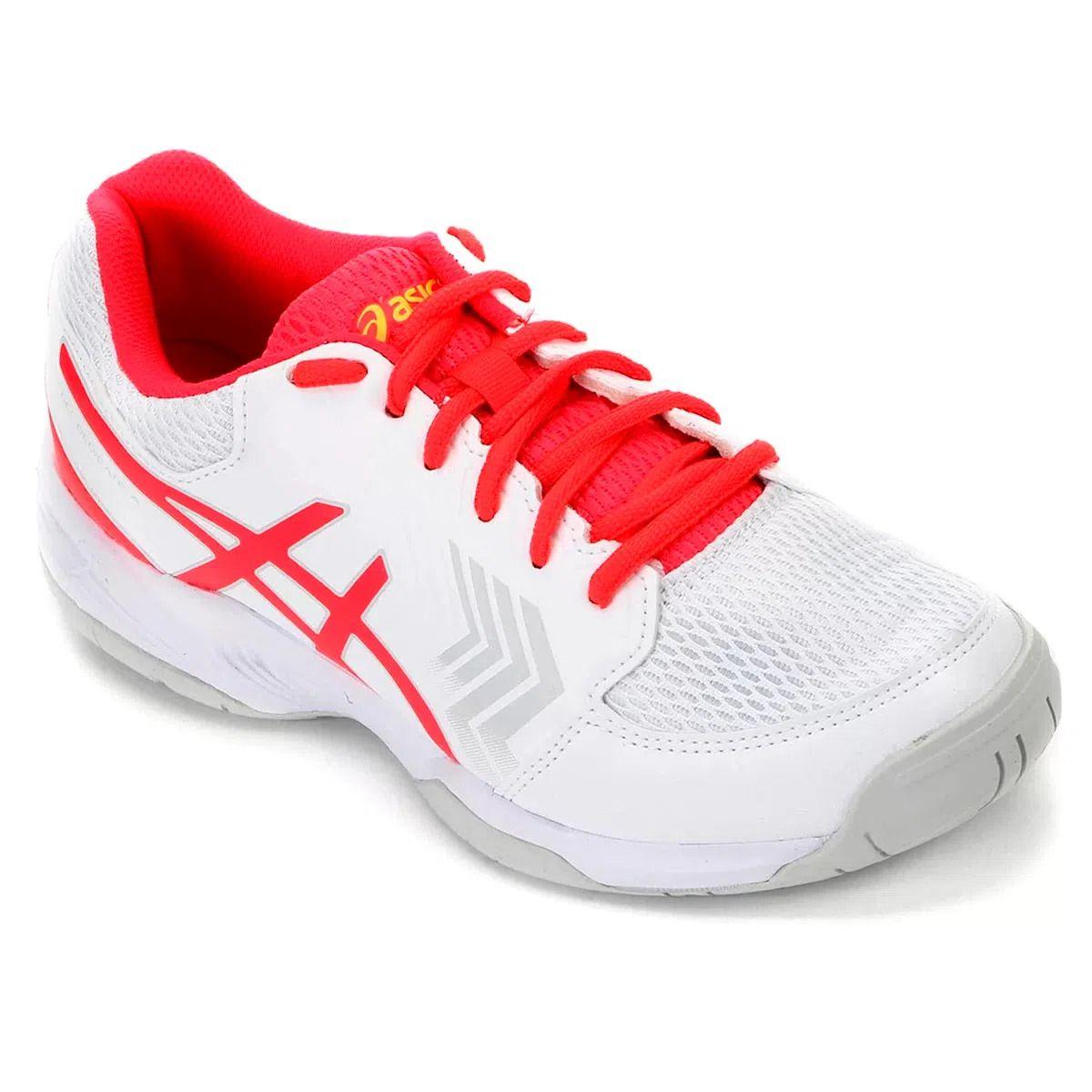 Tenis Asics Gel Dedicate 5A Branco/Rosa