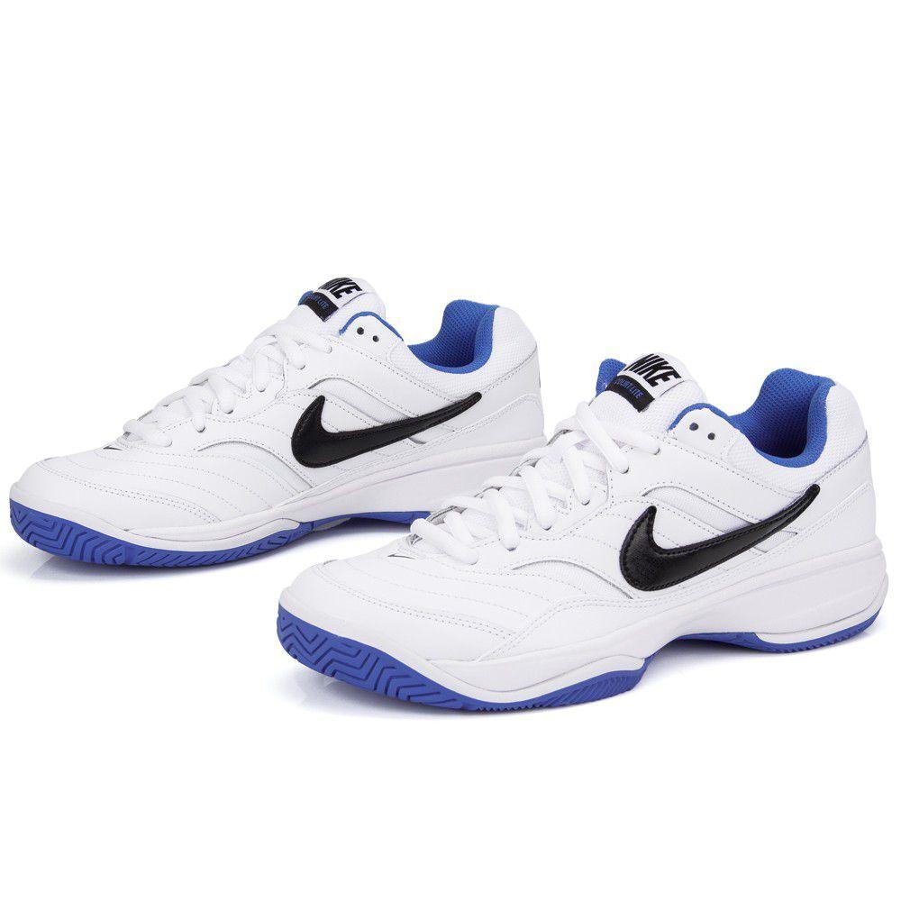 Tênis Nike Court Lite Branco Azul e Preto