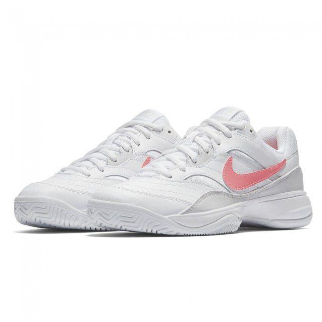 Tenis Nike Feminino Court Lite - Branco e Rosa