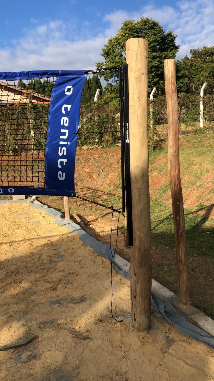 Suporte para Poste Beach Tenis, Futevôlei e Volei