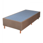 Cama Box Base Solteiro Veludo Marron 088x188x25