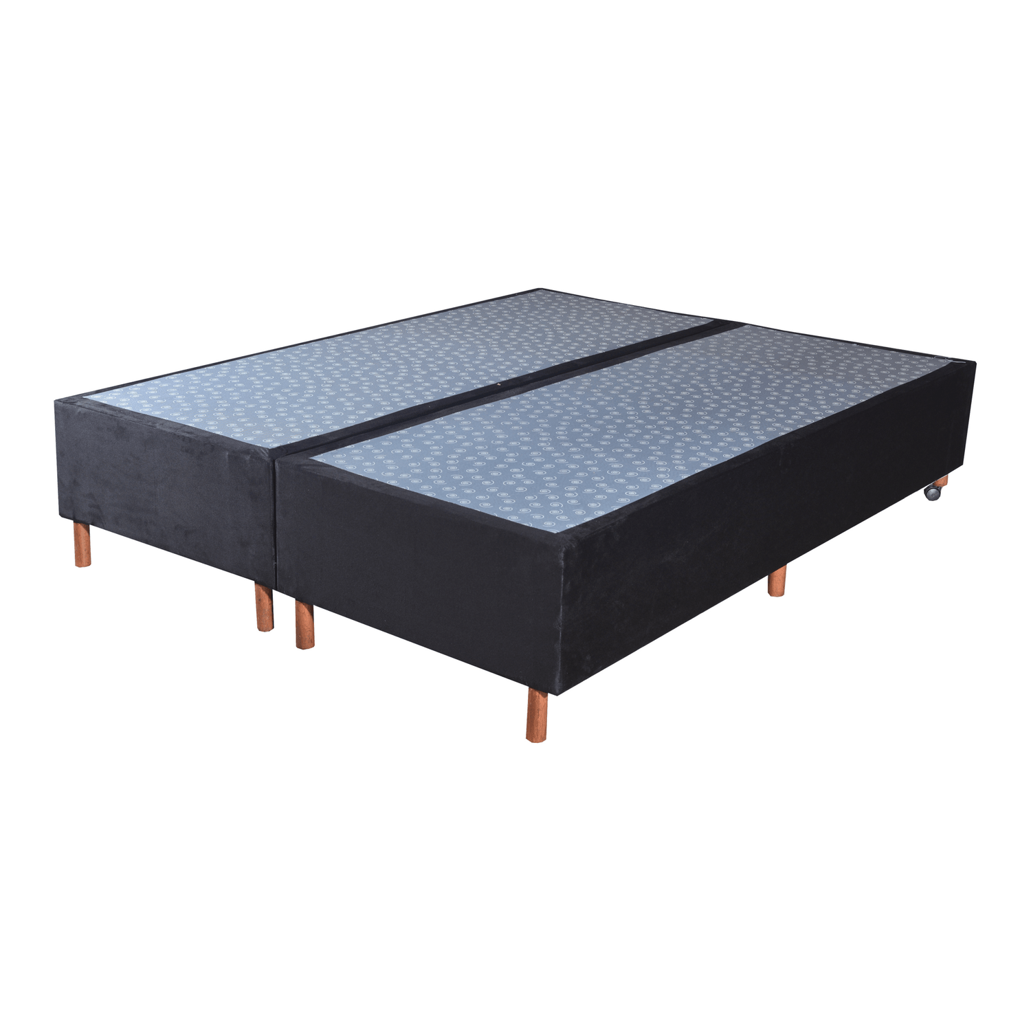 Cama Box Base King Veludo Preto 193x203x25