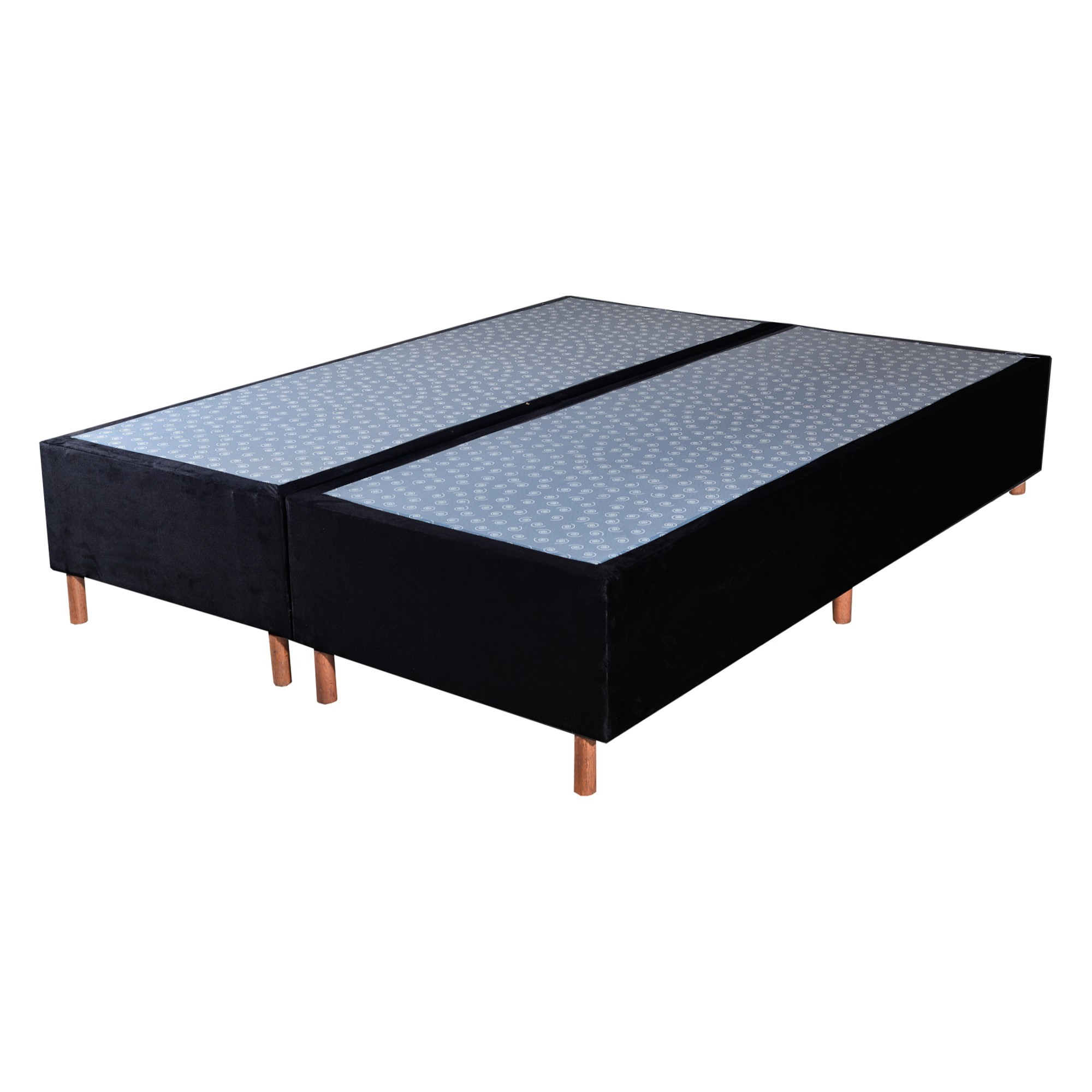 Cama Box Base King Veludo Preto 193x203x30