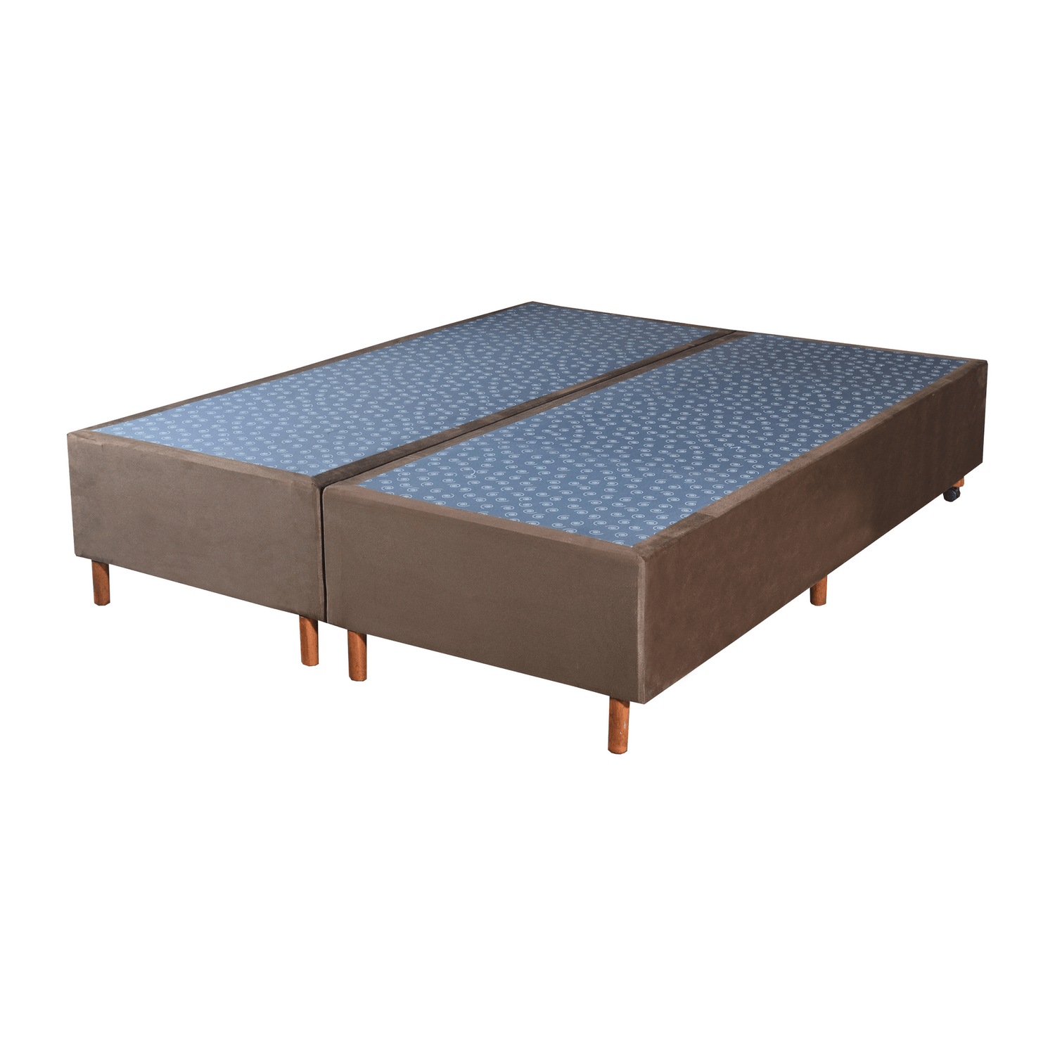 Cama Box Base Queen Veludo Marron 158x198x30