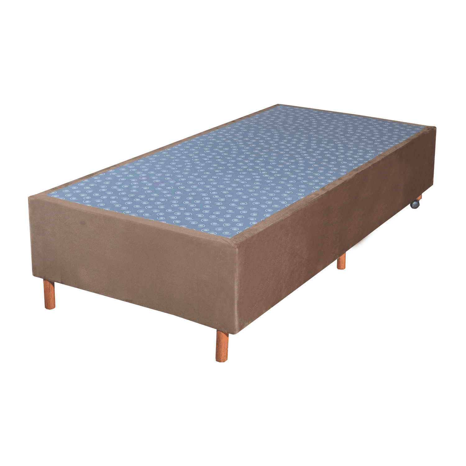 Cama Box Base Solteiro Veludo Marron 088x188x30