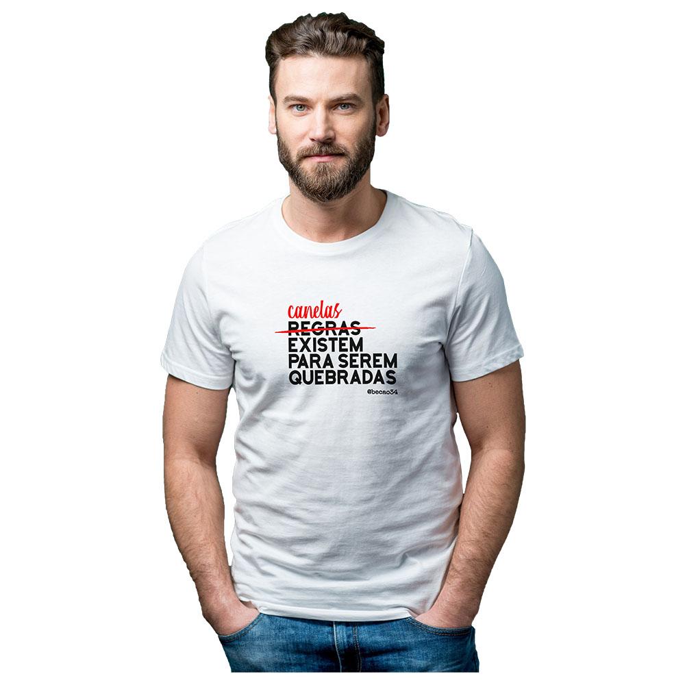 Camiseta Becão Canelas Existem Para Serem Quebradas