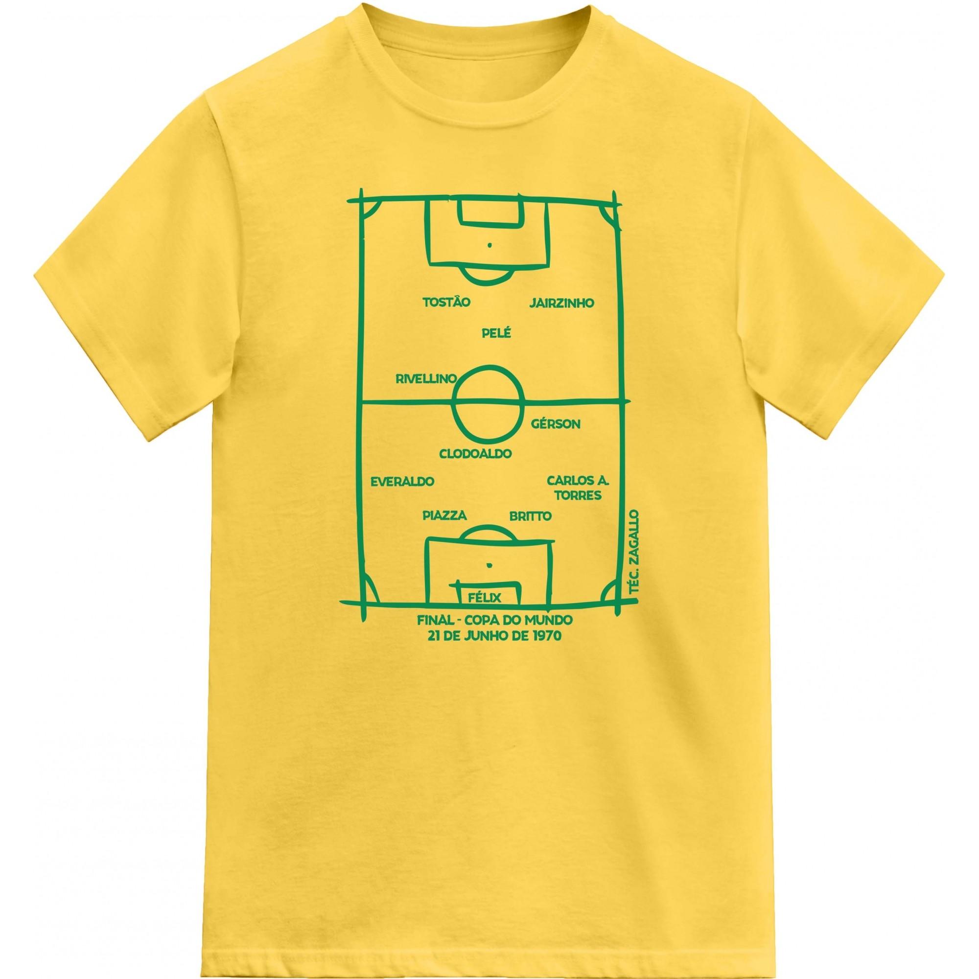 Camiseta - Brasil - Copa do Mundo 1970