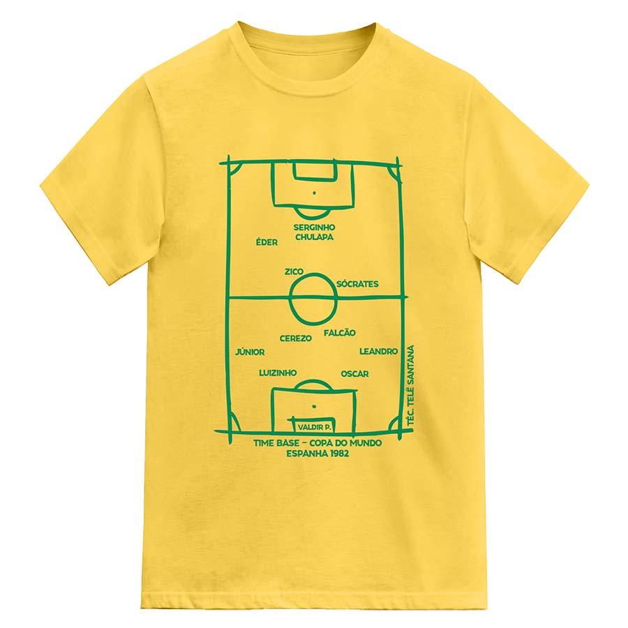 Camiseta Brasil Copa do Mundo 1982