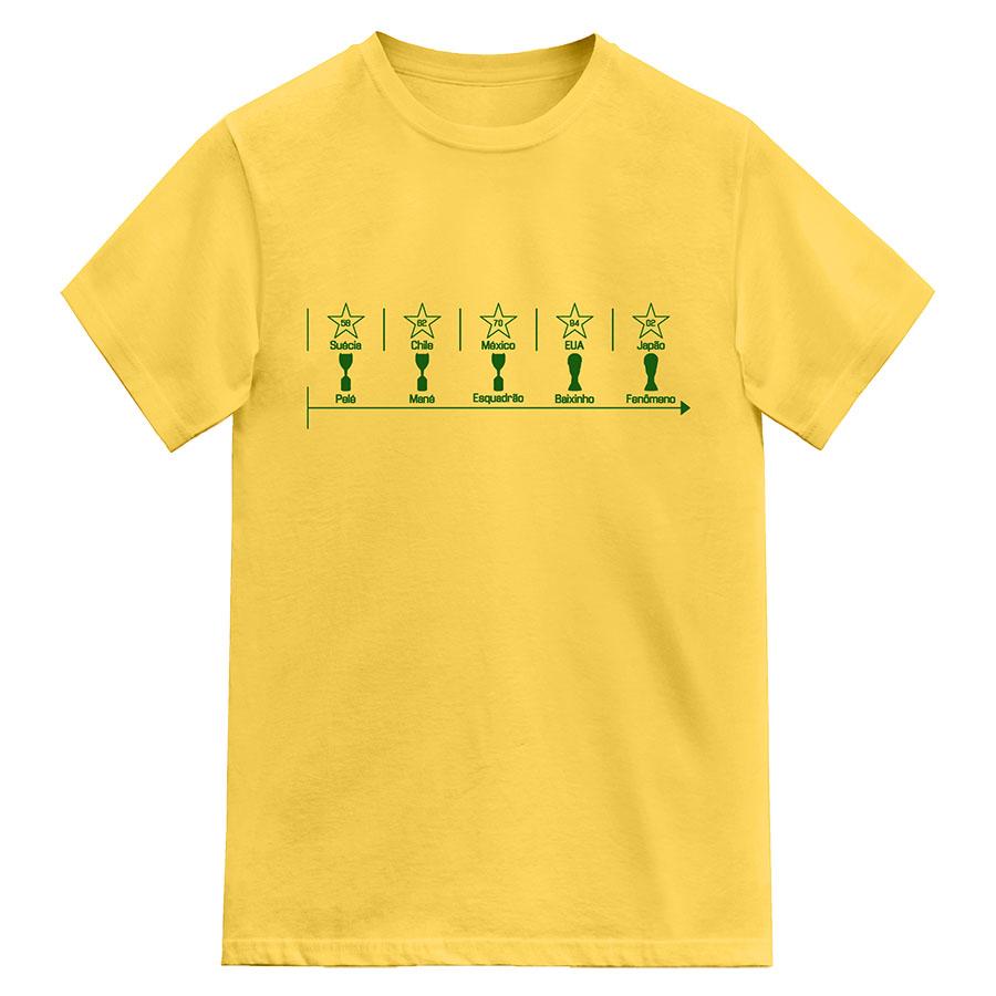 Camiseta Brasil Histórico do Penta
