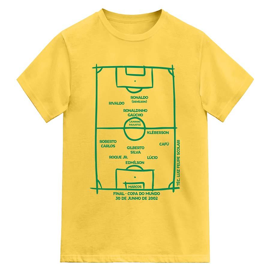 Camiseta Brasil Penta Copa do Mundo 2002