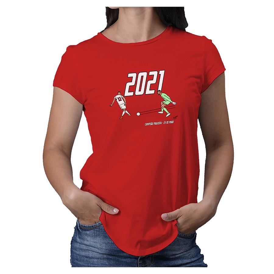 Camiseta Feminina Renascimento Tricolor Paulistão 2021