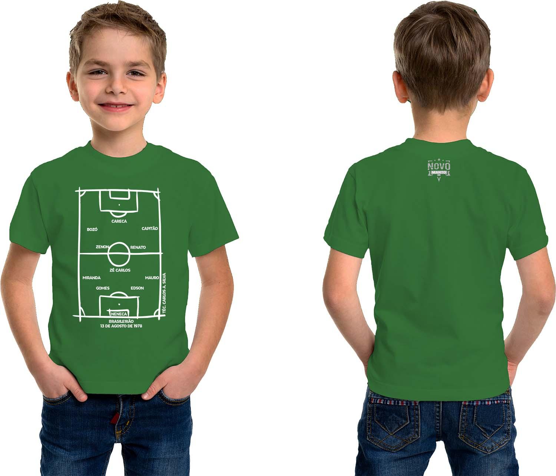 Camiseta Infantil Escalação Campeão Brasileiro 1978