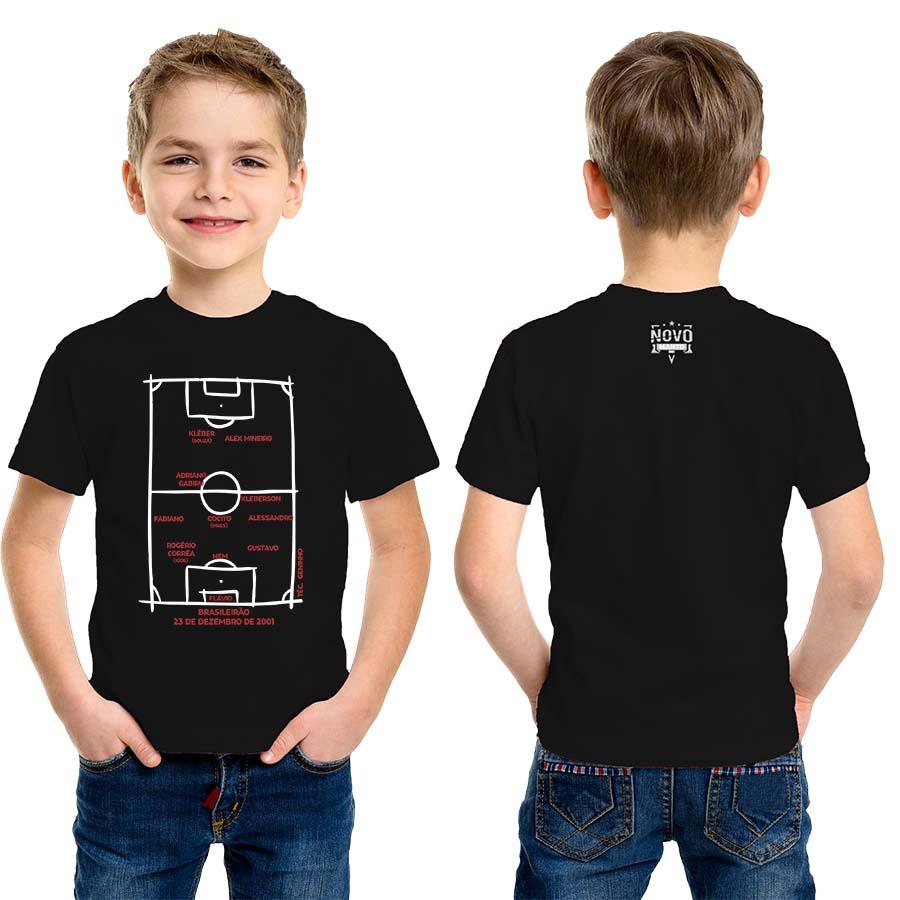 Camiseta Infantil Escalação Campeão Brasileiro 2001