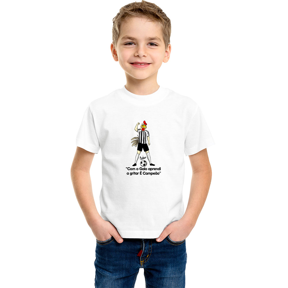 Camiseta Infantil Mascote Galo