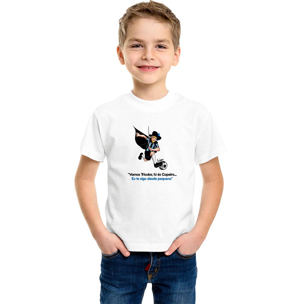 Camiseta Infantil Mascote Tricolor Imortal