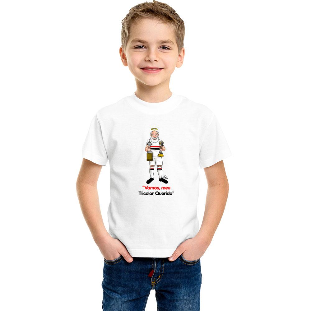 Camiseta Infantil Mascote Tricolor Paulista