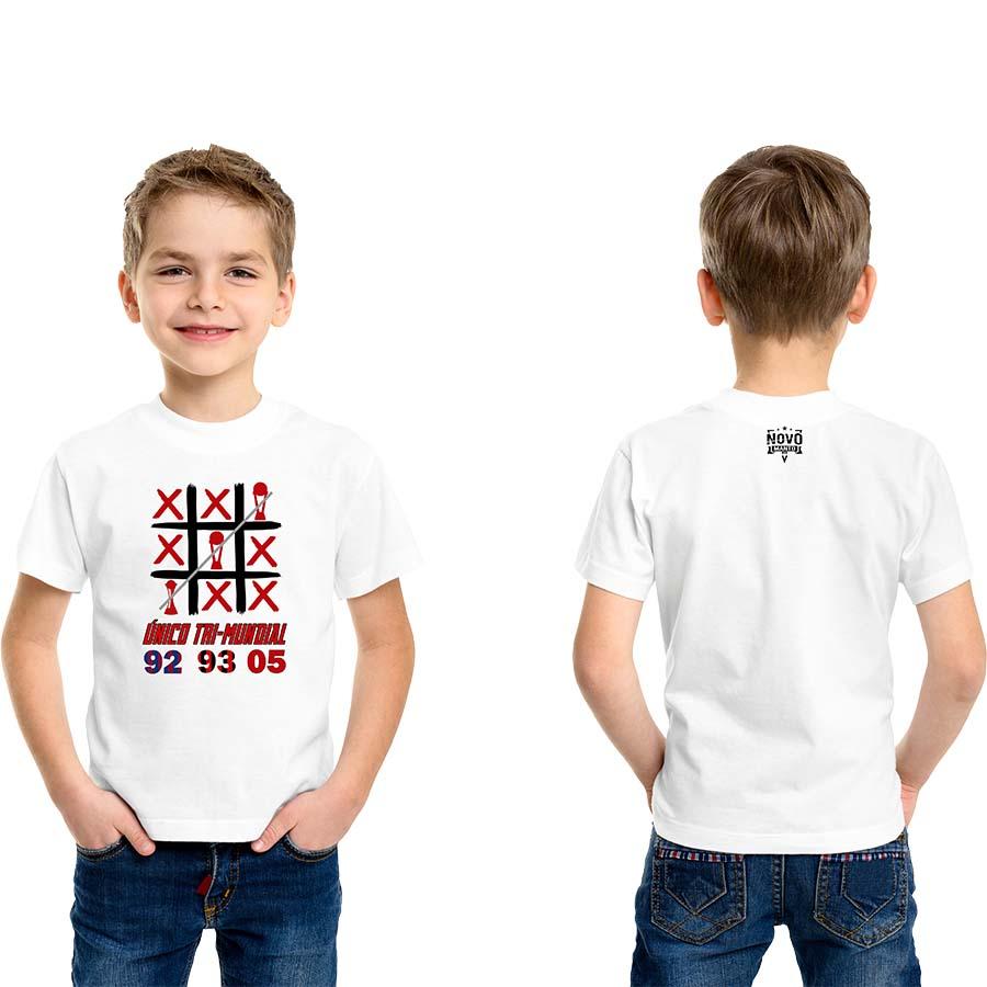 Camiseta Infantil Único Tri-Mundial