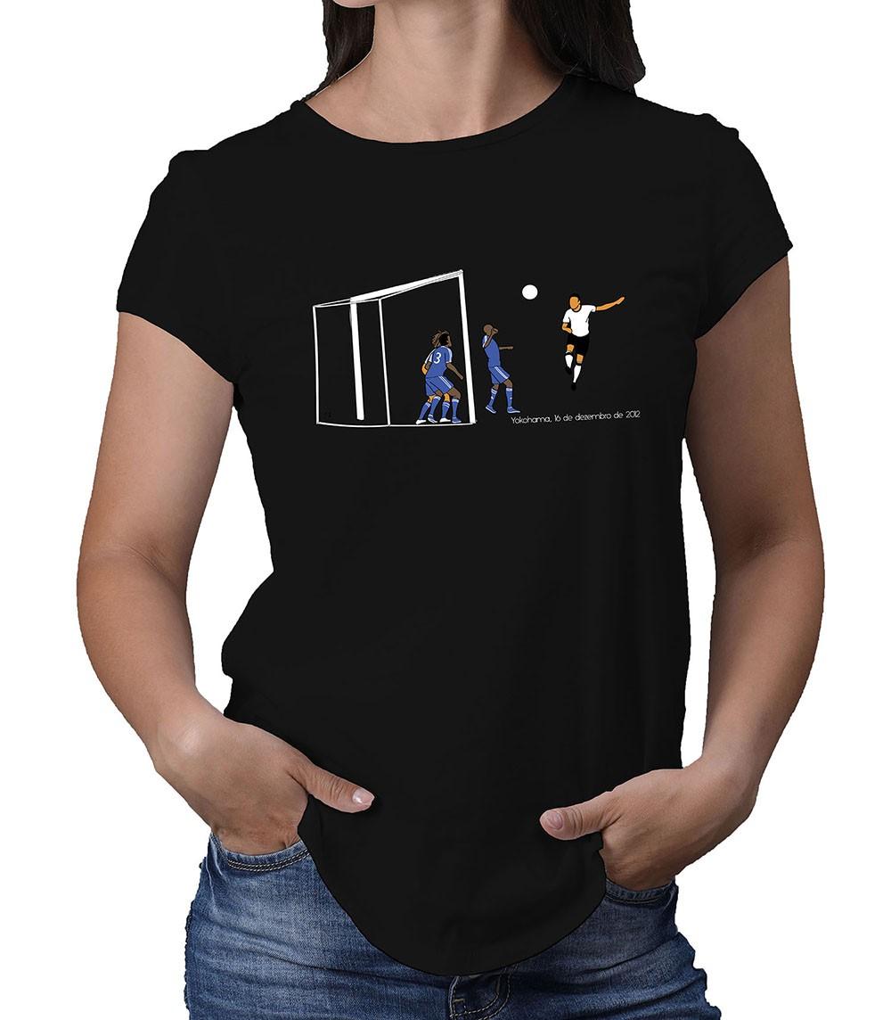 Camiseta Feminina Mundo Preto e Branco