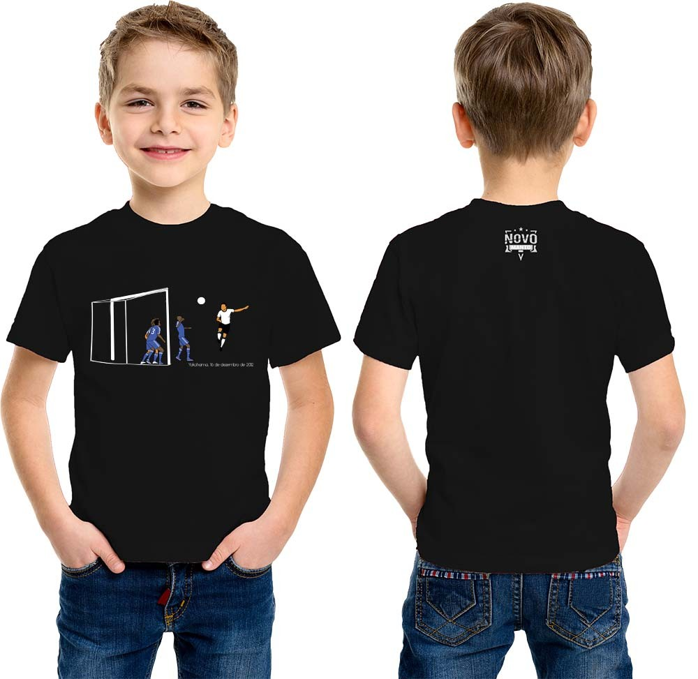 Camiseta Infantil Mundo Preto e Branco