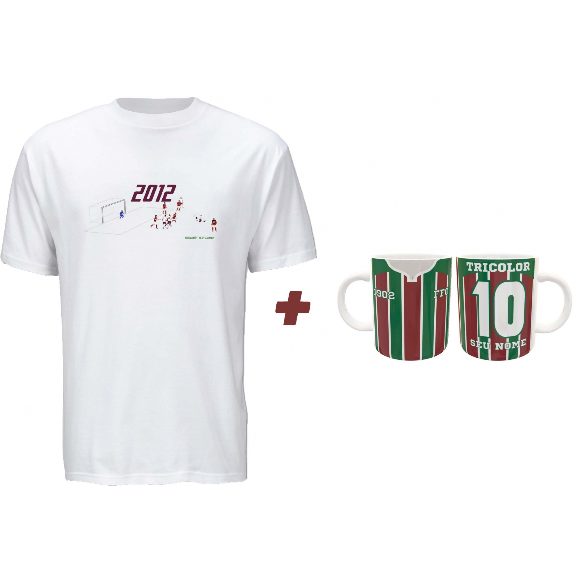 Kit Camiseta + Caneca Fluzão