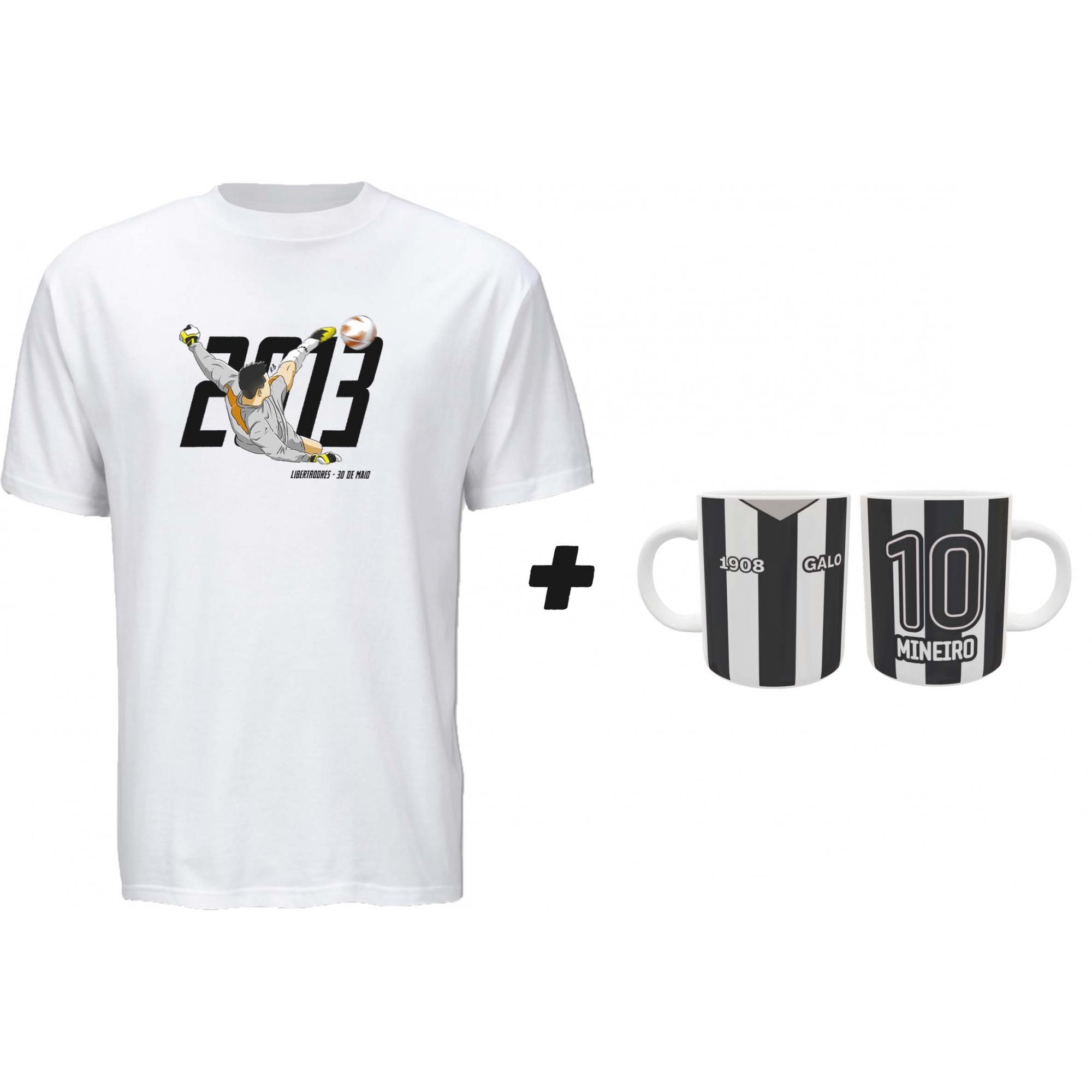 Kit Camiseta + Caneca Galo