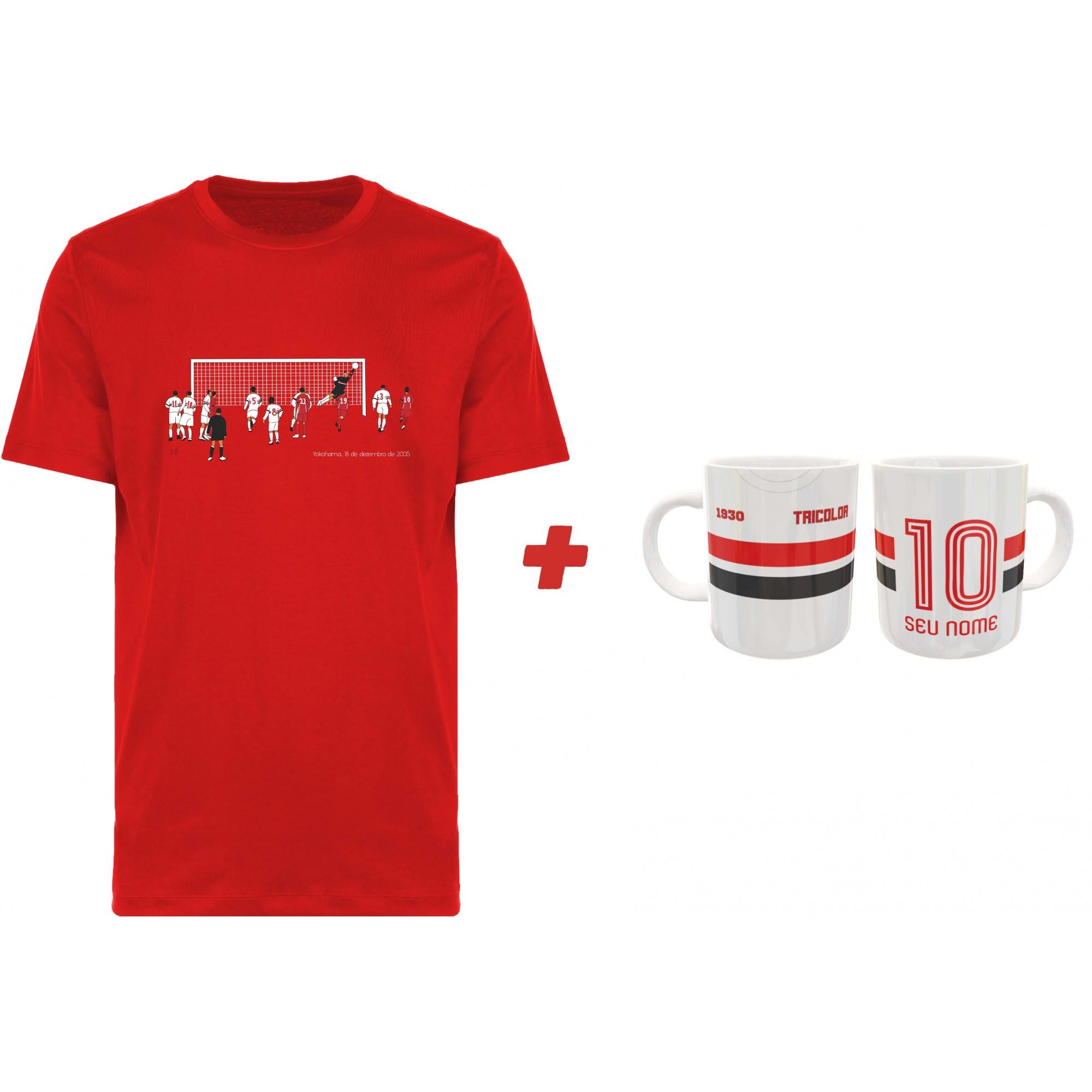 Kit Camiseta + Caneca Tricolor do Morumbi