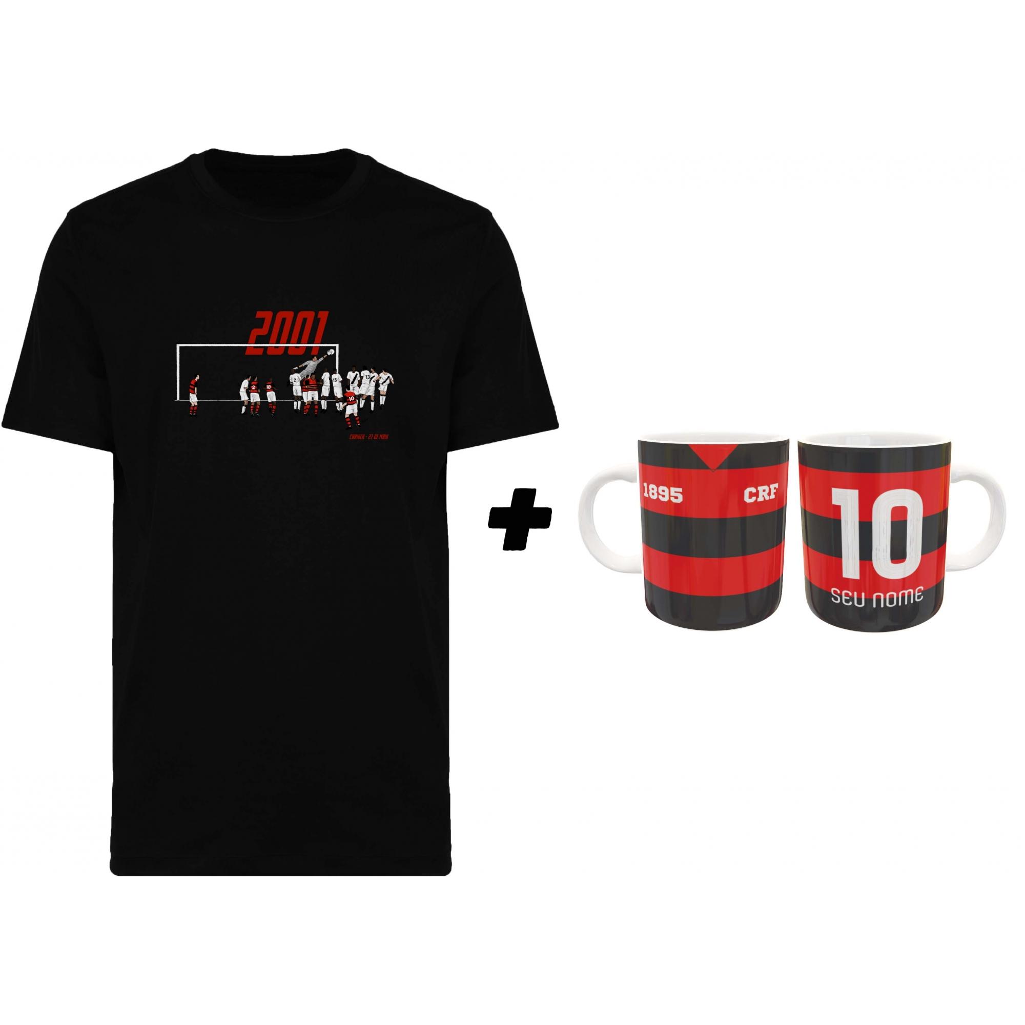 Kit Camiseta + Caneca Mengão