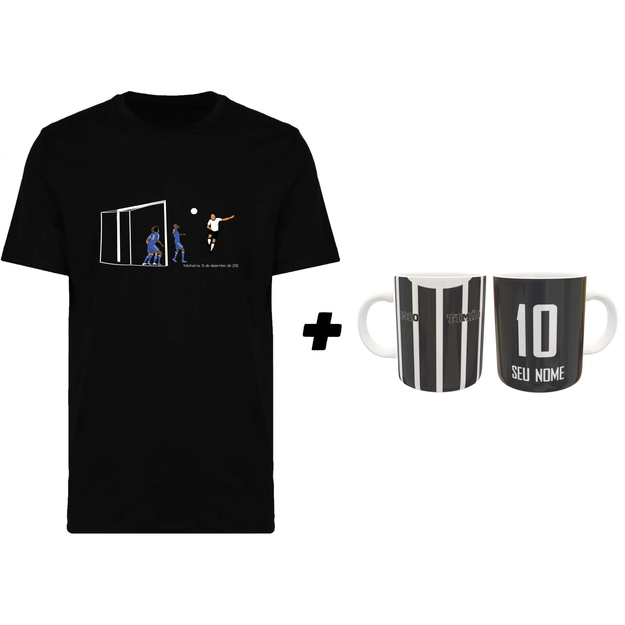 Kit Camiseta + Caneca Timão