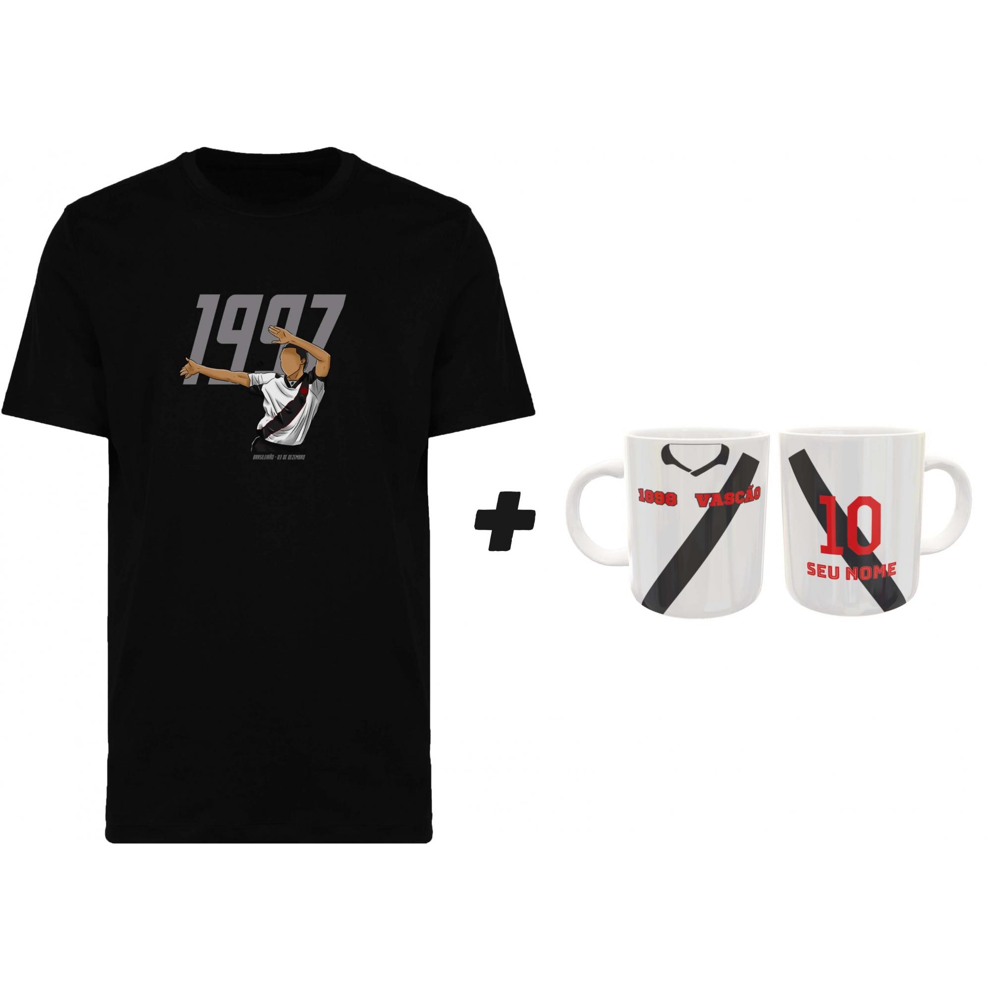 Kit Camiseta + Caneca Vascão