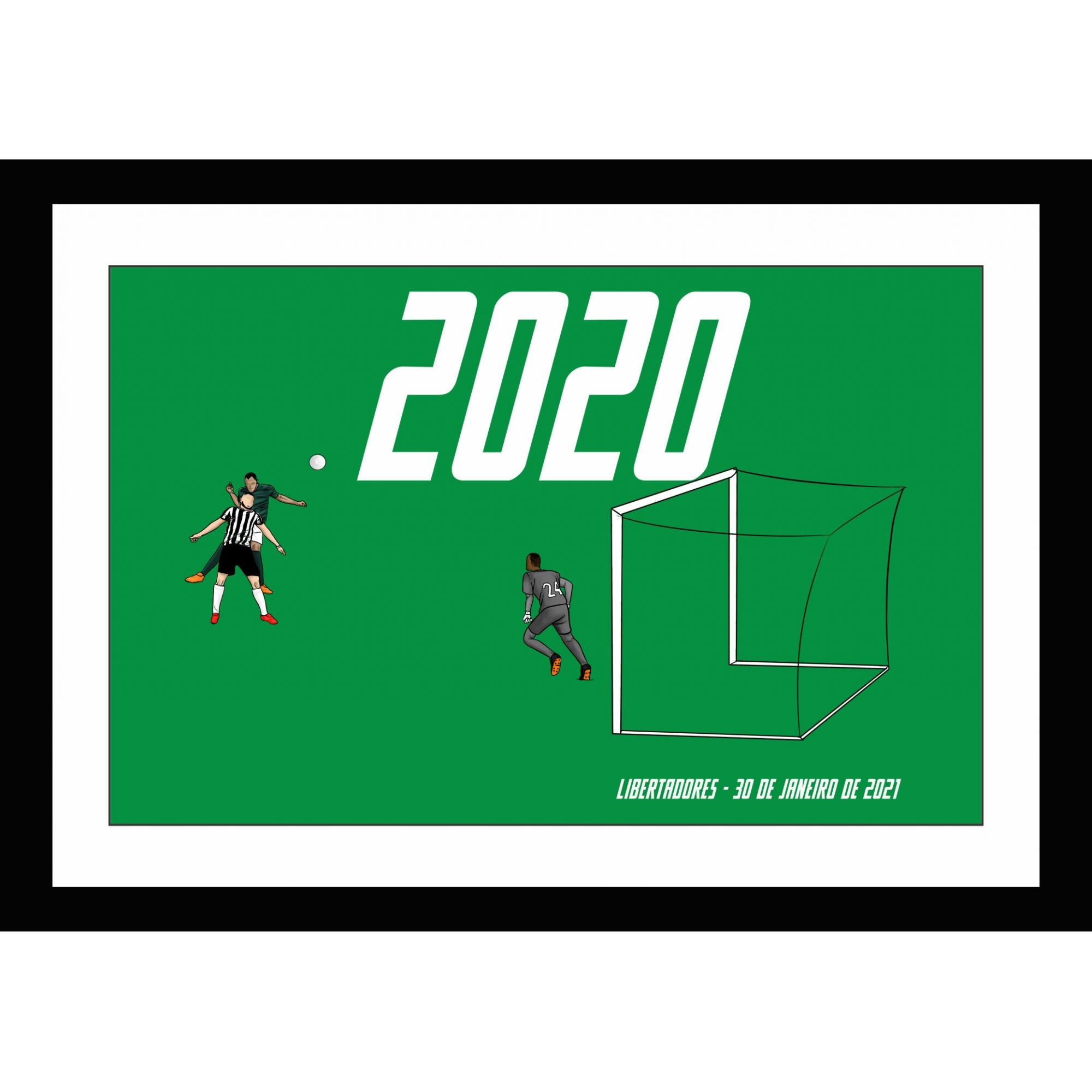 Quadro Herói Improvável Bi-Libertadores 2020