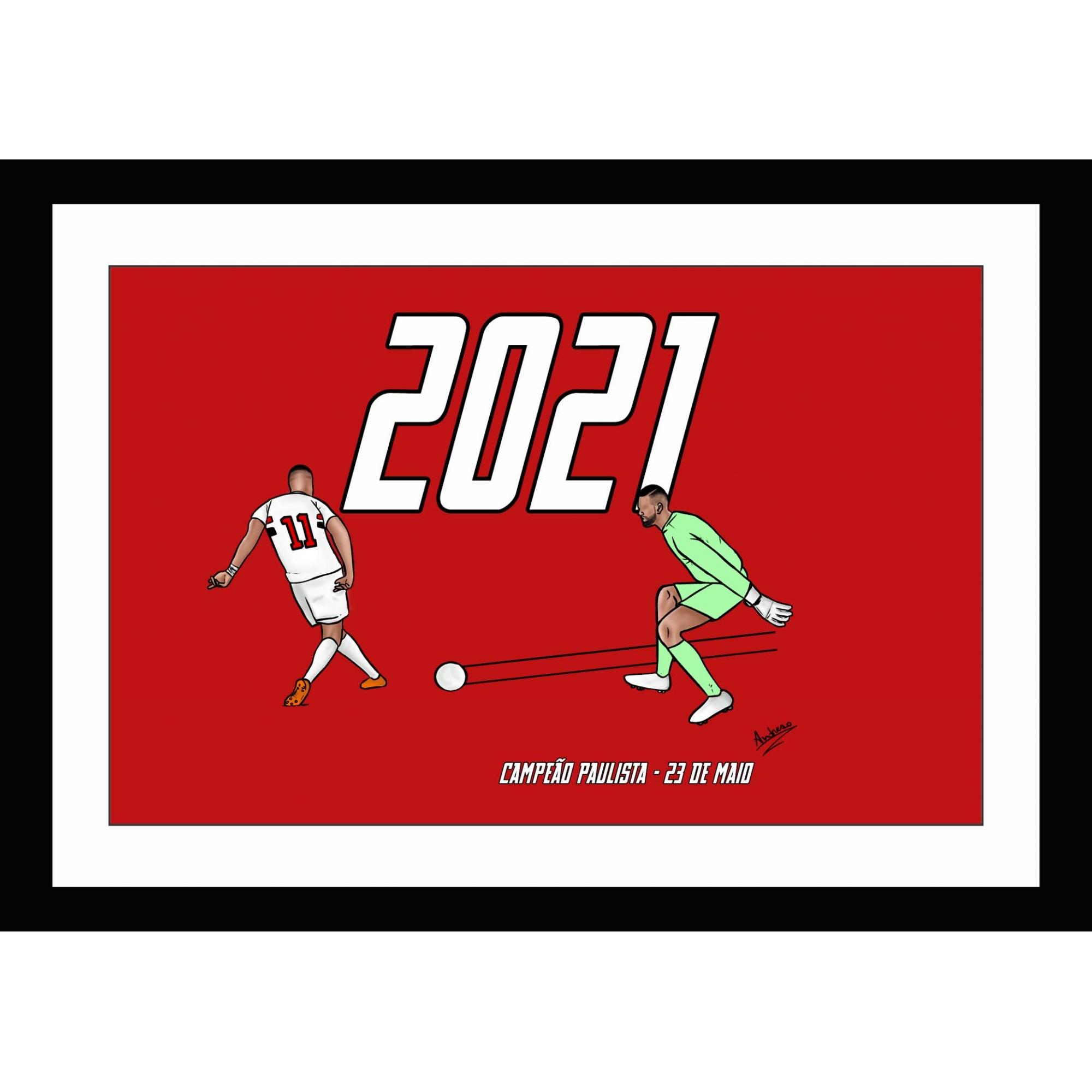 Quadro Renascimento Tricolor Paulistão 2021