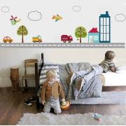 Adesivo de Parede Infantil Transportes na Cidade